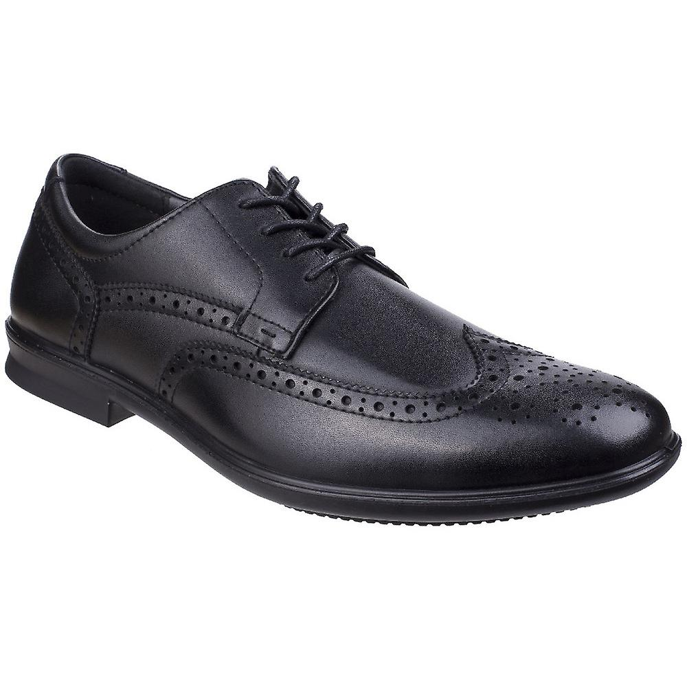 Hush Puppies Mens Cale Lace Up Leather Oxford Smart Brogue chaussures