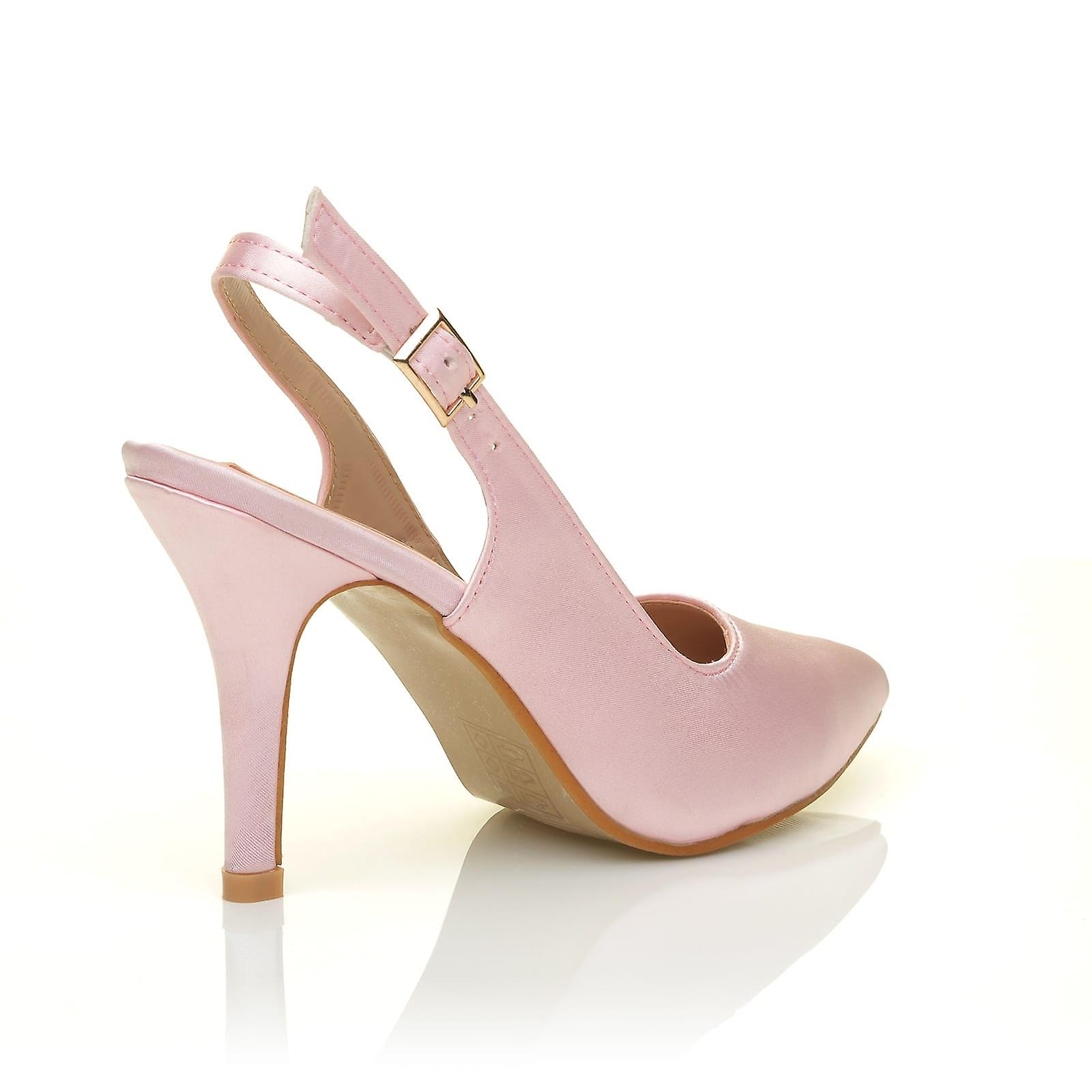Stiletto Pink High Shoes Baby Bridal Slingback Heel Court FAITH Satin wF5tHqTH