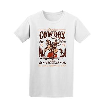 Rodeo-Poster mit Cowboy T-Shirt Herren-Bild von Shutterstock