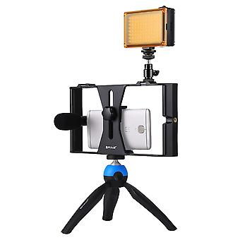 PULUZ fat cow mobile phone SLR camera set for live broadcast live rabbit cage with patch lamp microphone mini tripod