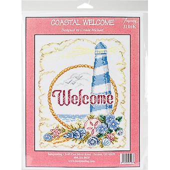 Coastal Welcome Counted Cross Stitch Kit-7.5