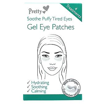 4 Gel Under Eye Puffy Tired Patches Pads Mask Fine Lines Anti Ageing Massage