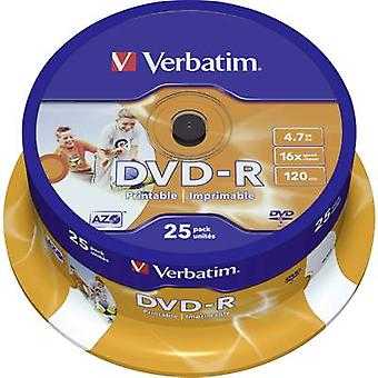 Blank DVD-R 4.7 GB Verbatim 43538 25 pc(s) Spindle
