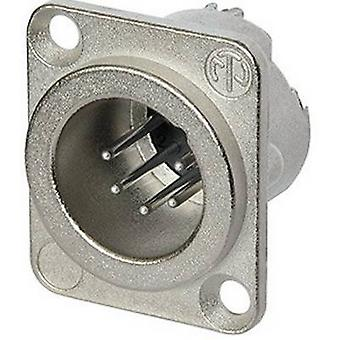 XLR connector Sleeve plug, straight pins Number of pins: 5 Silver Neutrik NC5MD-LX 1 pc(s)