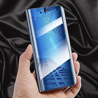 Für Xiaomi MI A2 Lite / Redmi 6 Pro Clear View Spiegel Mirror Smartcover Blau Schutzhülle Cover Etui Tasche Hülle Neu Case Wake UP Funktion