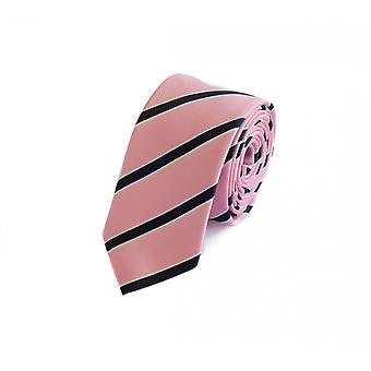 Tie tie tie tie 6cm pink black Fabio Farini white striped