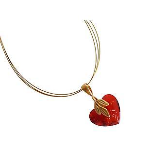 Serce naszyjnik serce łańcuch ELISHA serca wisiorek złoty powłoka Crystal