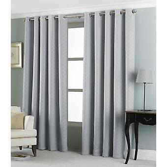 Country Club Eden Jacquard Curtains 46 x 54, Silver