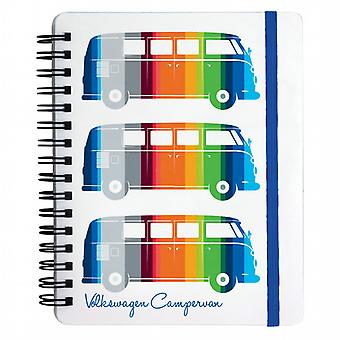 Official VW Camper Van A6 Ring Binder Notebook - Coloured Stripes
