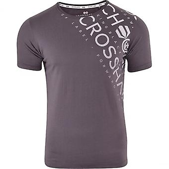 Crosshatch Mens Short Sleeved Crew Neck T Shirt Graphic Logo Cotton Fashion Tee