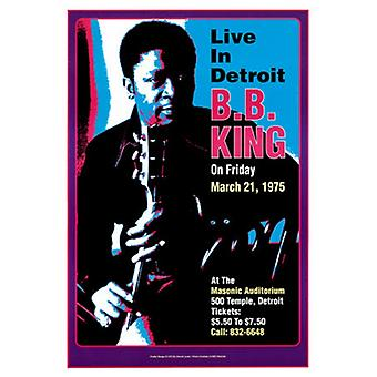 BB King Masonic Auditorium Detroit 1974 Poster Print by Dennis Loren (14 x 20)