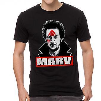 Home Alone Marv Iron Hit Booby Trap Men's Black T-shirt