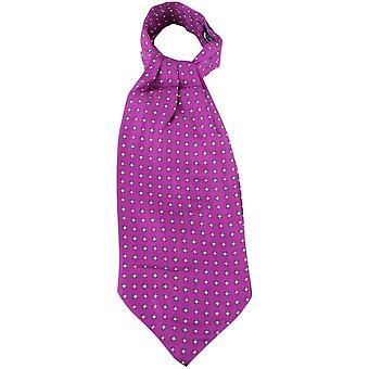 Knightsbridge Neckwear Diamonds Silk Cravat - Fuchsia