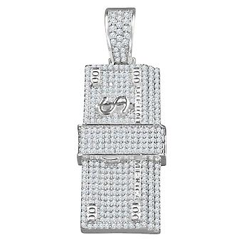 925 sterling silver micro pave pendants - DOLLARS