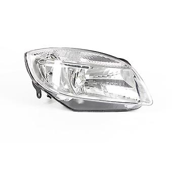 Right Driver Side Headlamp (Electric With Motor) for Skoda Fabia 2007-2010