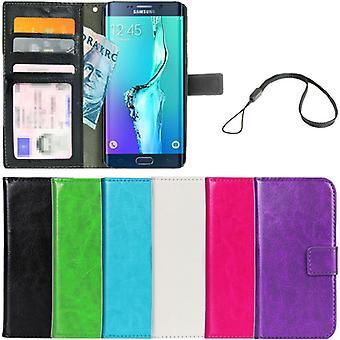 Wallet Case Galaxy S6 Edge PLUS ID Pocket + Wrist Strap