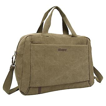 Olive green weekend bags made or shoulder bag made of durable fabric
