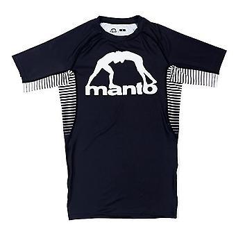 Manto Logo kurze Ärmel Rash Guard schwarz