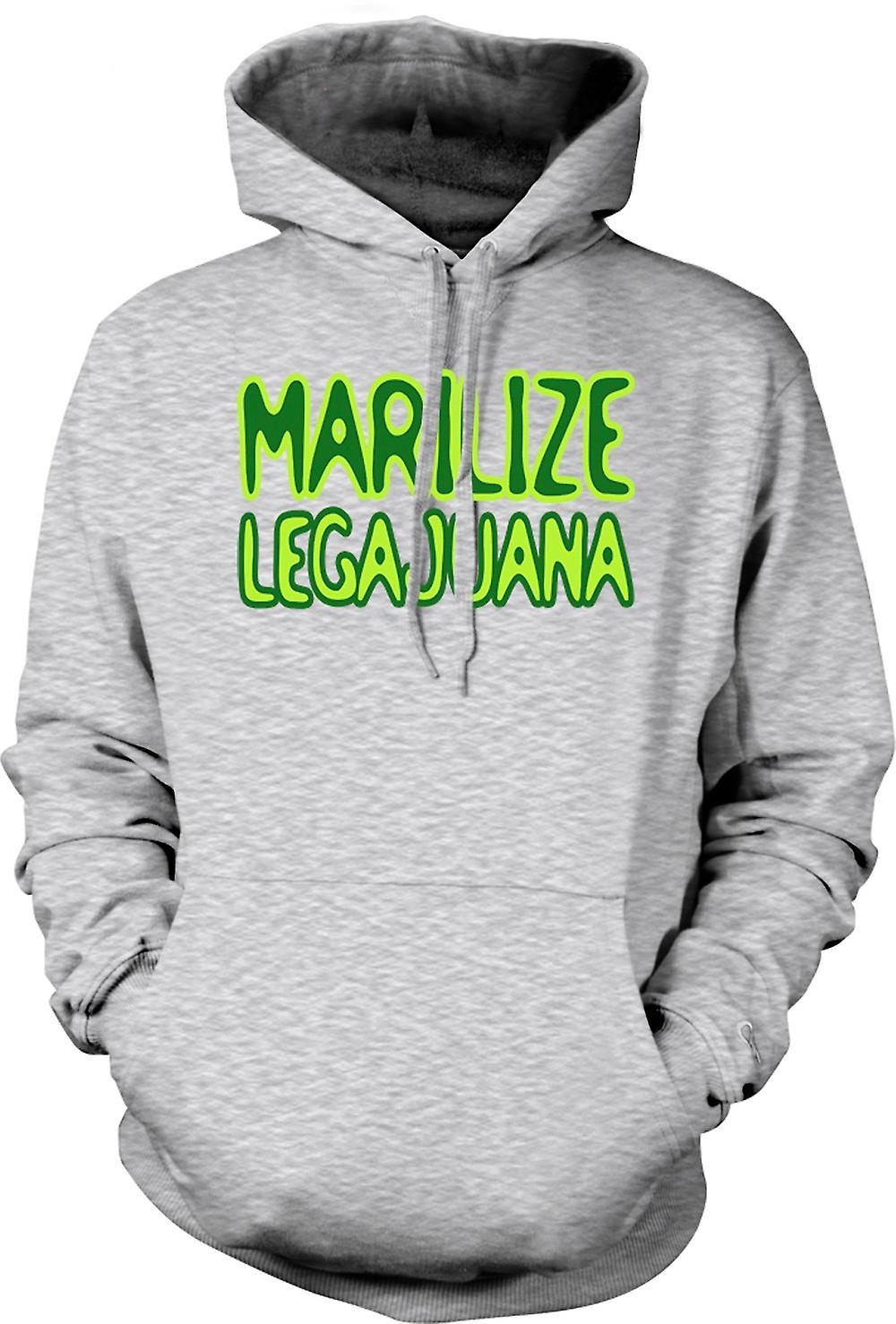 Mens Hoodie - Marilize Legajuana Weed