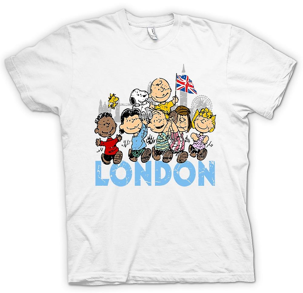Womens T-shirt - Snoopy - London - Funny Cartoon
