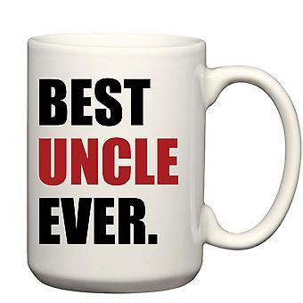 Menns beste onkel mann noensinne røde krus mann krus stort krus 15 CL far fedre dag jul onkel dag