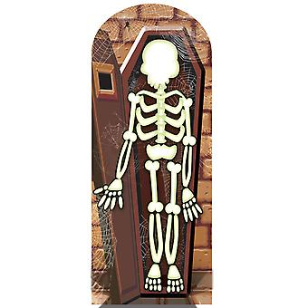 Skjelett i krypten Halloween papp Stand-in Cutout / Standee