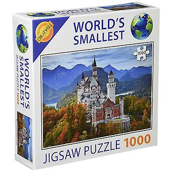 World's Smallest 1000 Piece Jigsaw Puzzle - Neuschwanstein Castle (1000 Pieces)