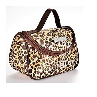 Leopard Gul Mönster Cosmetic Make Up Travel Package Case Pouch - Modell 284