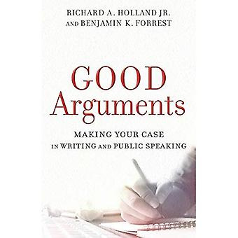 Bra argument: Att göra ditt fall skriftligen och tala inför publik