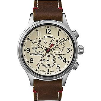 Timex Watch chronograph quartz men's watch with leather TW4B04300