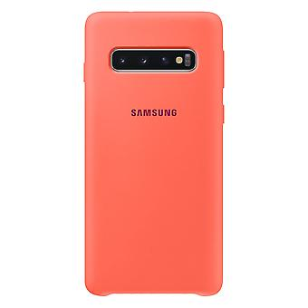 Samsung silicone cover Berry Pink for Samsung Galaxy S10 G973F EF PG973THEGWW bag case protective cover