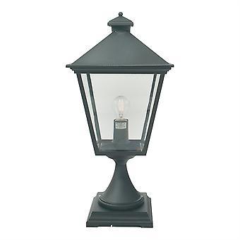 Turijn buiten Grande voetstuk lantaarn - Elstead verlichting Tg3 zwart