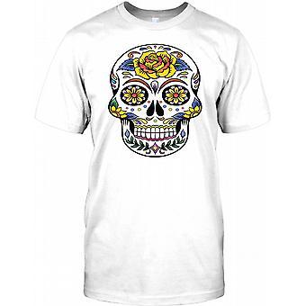 Mexican Sugar Skull - Rose Kids T Shirt