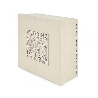 East of India Wooden Wedding Memories Keepsake Box