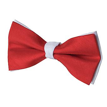 Dobell Mens Red and White Bow Tie Pre-Tied