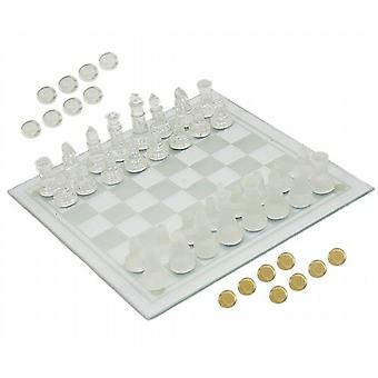 Glass Chess / Zugluft Mit Board Set