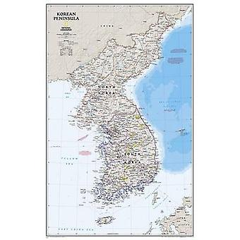 Korean Peninsula - Tubed - Wall Maps Countries & Regions by National G