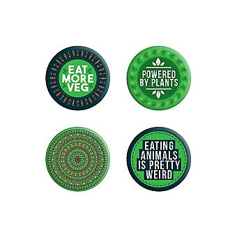 Grindstore Powered By Plants Badge Pack