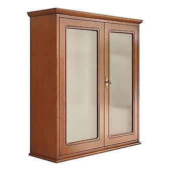 Wall cabinet 2 doors in classic style glass