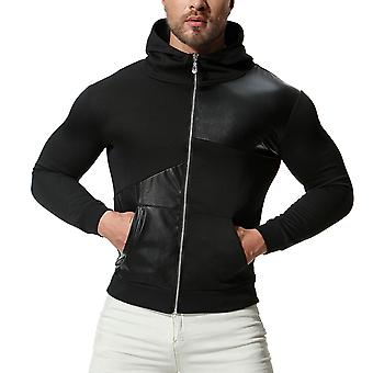 Allthemen heren Hooded jas slim fit voorjaar rits jas