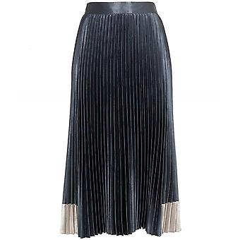 Ted Baker Glaycie Contrast Panel Pleated Midi Skirt