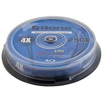 AONE 4 x schreiben 25GB weiß Full Face bedruckbare Blu-Ray Rohling Scheiben 10pcs Cake Box/Spindel BD-R (Blu-Ray 10-Pack-Wanne)