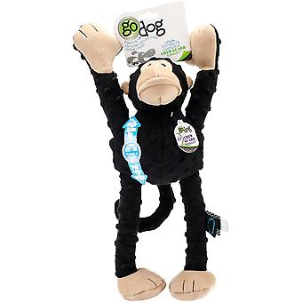 goDog Crazy Tugs Monkey with Chew Guard Large-Black 770868