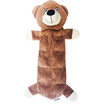 Nandog My Bff Suede Squeaker Bear Toy-Brown BF12B