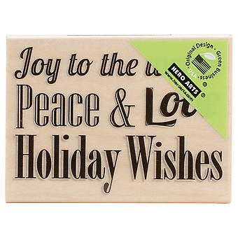 Hero Arts Mounted Rubber Stamps Peace And Love Ha F5845