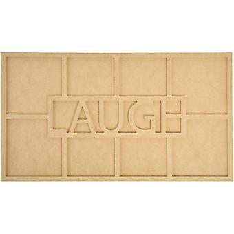 Beyond The Page Mdf Laugh Word Frame with 8 Openings 19.75