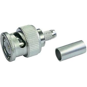 BNC connector Plug, straight 50 Ω Telegärtner J01000A0049 1 pc(s)