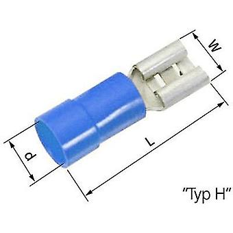 Blade receptacle Connector width: 6.3 mm Connector thickness: 0.8 mm 180 ° Partially insulated Blue LappKabel 63101080