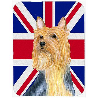 Silky Terrier inglese Union Jack bandiera britannica del Mouse Pad, Pad caldo o sottopentola LH9468MP
