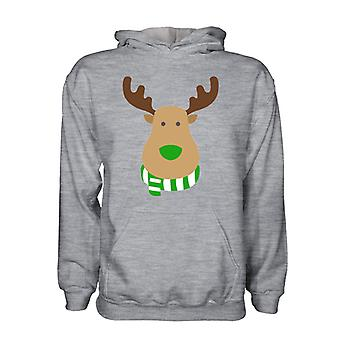 Hibernian Rudolph Supporters Hoody (grey) - Kids